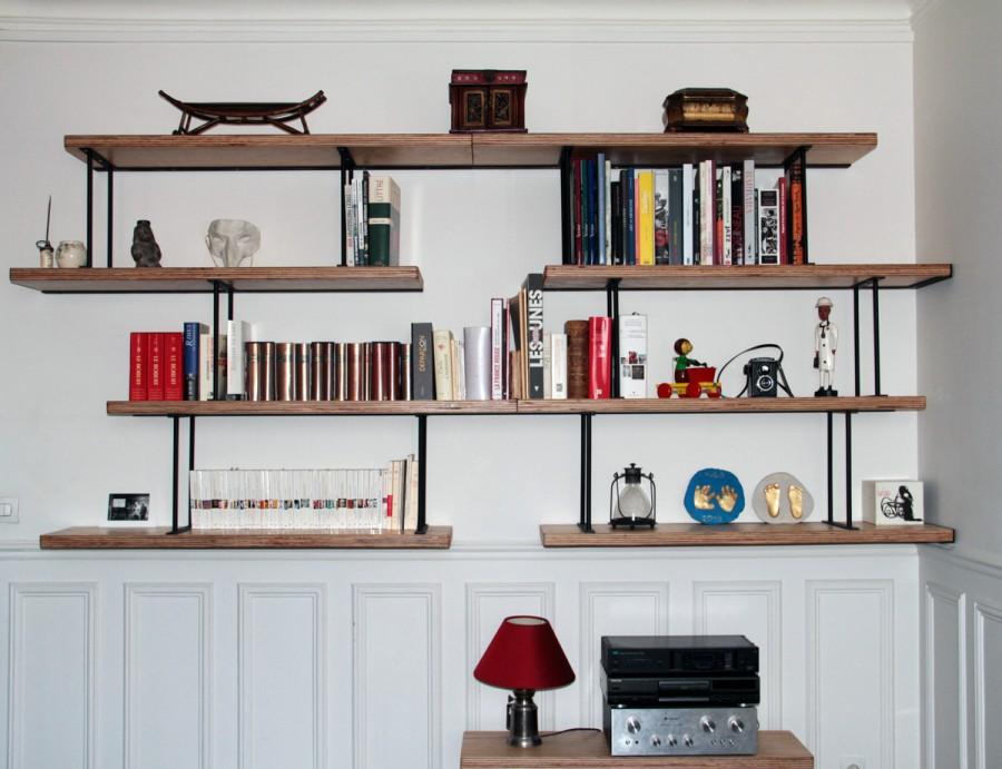 Bibliothèque sur-mesure Hugo