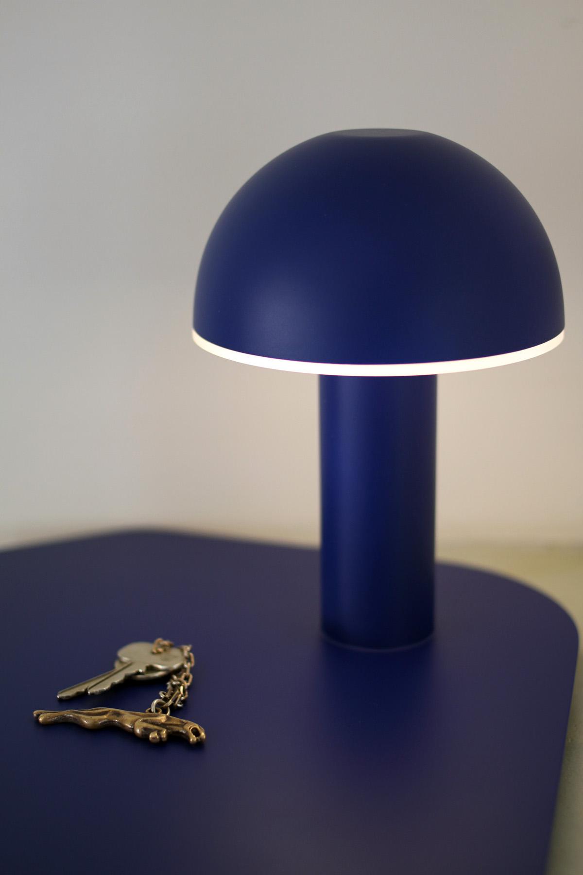 Cul de poule - Luminaire - vide poche - bol - metal - détail - couleur BLEU - design sur-mesure - Agence MAJOTIK
